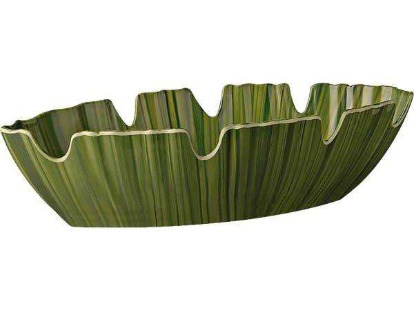 APS FSE Bladschaal - NATURAL - Melamine Groen - Vaatwasserbestendig - 400x185x(h)100 mm