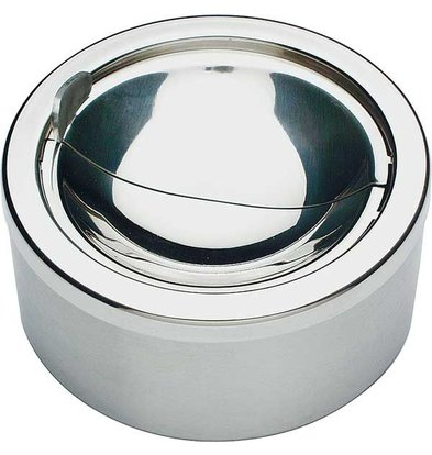 APS FSE Stainless steel ashtray | With High Polished Windshield | Ø12x (H) 5.5cm