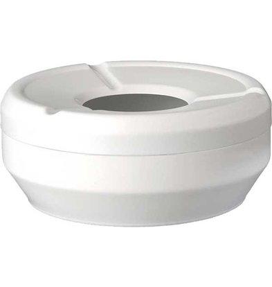 APS FSE Ashtray | Melamine White | Stackable | Ø10x (H) 4cm