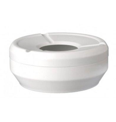 APS FSE Ashtray | Melamine White | Stackable | Ø12x (H) 4,3cm