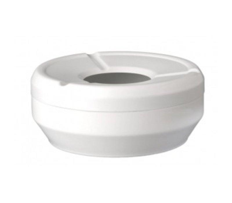 APS FSE Asbak | Melamine Wit | Stapelbaar | Ø12x(H)4,3cm