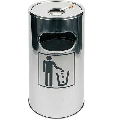 APS FSE Asbak / afvalbak | Uitneembare asbak | Eenvoudig te Reinigen | ca. Ø 300 mm | hoogte 600mm