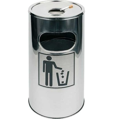 APS FSE Ashtray / waste bin | Removable ashtray | Easy to Clean | ca. Ø 300 mm | height 600mm