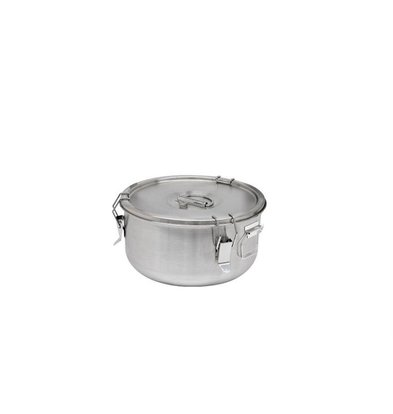 Thermosteel Thermostal Soup container | 5 liters Side handles Double-walled stainless steel AISI 304 | Stackable Ø 30cm x (h) 17cm