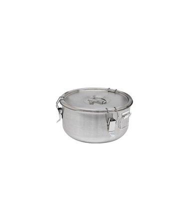 Thermosteel Thermostal Suppenbehälter | 5 Liter Seitliche Griffe Doppelwandiger Edelstahl AISI 304 | Stapelbar Ø 30 cm x (h) 17 cm
