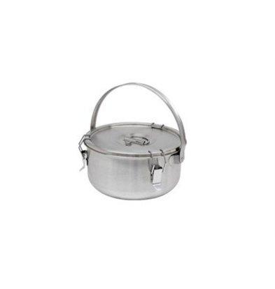Thermosteel Thermostal Suppenbehälter | 5 Liter Mit Klammer | Doppelwandiger Edelstahl AISI 304 | Stapelbar Ø 30 cm x (h) 17 cm