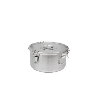 Thermosteel Thermosteel | Suppenbehälter | 10 Liter Seitliche Griffe Doppelwandiger Edelstahl AISI 304 | Ø30cm x (h) 22.5cm