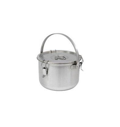 Thermosteel Thermosteel | Suppenbehälter | 10 Liter Mit Klammer | Doppelwandiger Edelstahl AISI 304 | Stapelbar Ø30cm x (h) 22.5cm