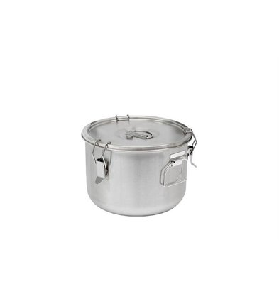 Thermosteel Thermostal Soup container | 15 liters Side handles Double-walled stainless steel AISI 304 | Stackable Ø36cm x (h) 21.5cm