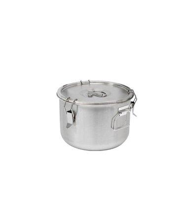 Thermosteel Thermostal Suppenbehälter | 15 Liter Seitliche Griffe Doppelwandiger Edelstahl AISI 304 | Stapelbar Ø36cm x (h) 21.5cm