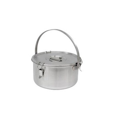 Thermosteel Thermostal Soup container | 15 liters With bracket | Double-walled stainless steel AISI 304 | Stackable Ø36cm x (h) 21.5cm