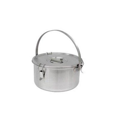 Thermosteel Thermostal Suppenbehälter | 15 Liter Mit Klammer | Doppelwandiger Edelstahl AISI 304 | Stapelbar Ø36cm x (h) 21.5cm