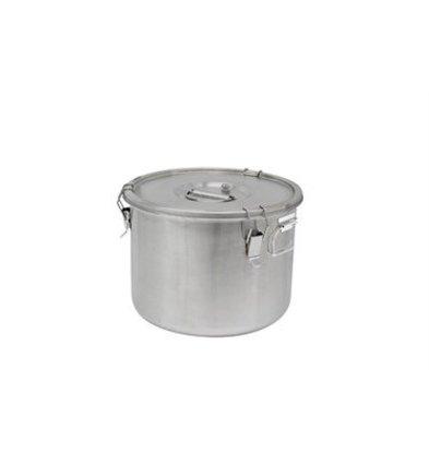 Thermosteel Thermostal Suppenbehälter | 20 Liter Seitliche Griffe Doppelwandiger Edelstahl AISI 304 | Ø36cm x (h) 28.5cm