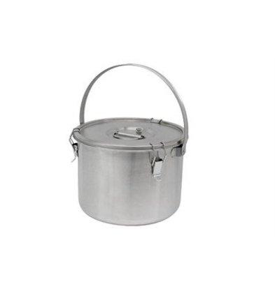 Thermosteel Thermostal Suppenbehälter | 20 Liter Mit Klammer | Doppelwandiger Edelstahl AISI 304 | Stapelbar Ø36 x (h) 28.5