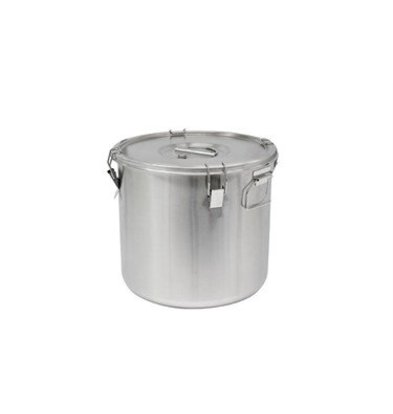 Thermosteel Thermostal Soup container | 25 liters Side handles Double-walled stainless steel AISI 304 | Stackable Ø36cm x (h) 35cm