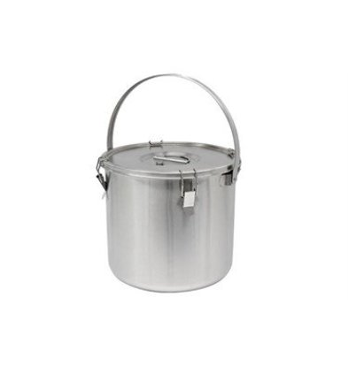 Thermosteel Thermostal Soup container | 25 liters With bracket | Double-walled stainless steel AISI 304 | Stackable Ø36cm x (h) 35cm