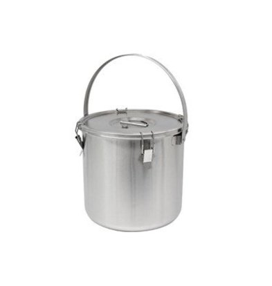Thermosteel Thermostal Soup container | With bracket | Double-walled stainless steel AISI 304 | Stackable Ø36cm x (h) 40cm