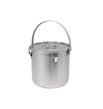 Thermosteel Thermostal Suppenbehälter | Mit Klammer | Doppelwandiger Edelstahl AISI 304 | Stapelbar Ø36cm x (h) 40cm