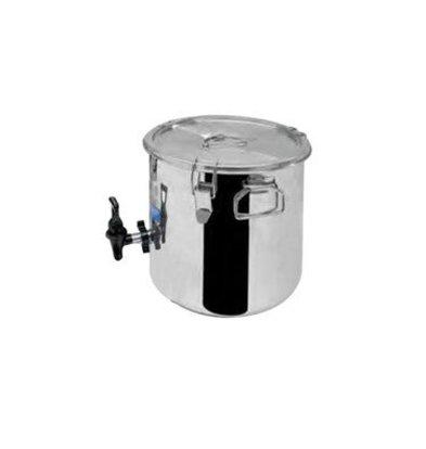 Thermosteel Thermostal Suppenbehälter | 9 Liter Mit Kran | Doppelwandiger Edelstahl AISI 304 | Stapelbar Ø30cm x (h) 34cm