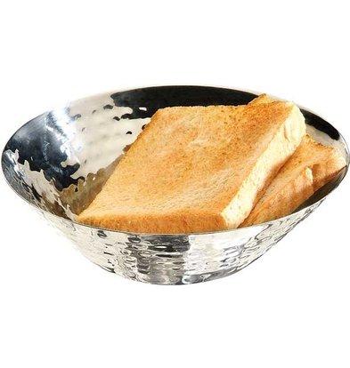 APS FSE Brood/Fruitschaal | Gehamerd Effect | RVS | Ø16x(H)5cm