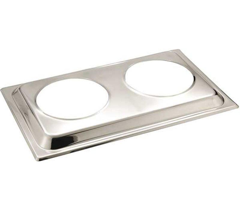 APS FSE Deksel voor Bain Marie | RVS | 54x33,5cm