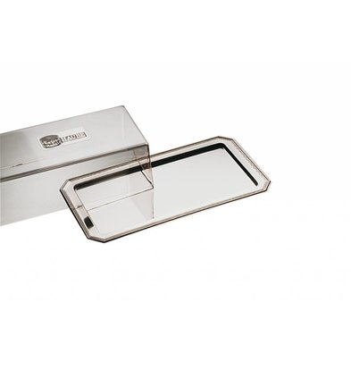 APS Cakes / Cheese Bowl Elegance   Stainless steel   Luran Cover   35x19cm