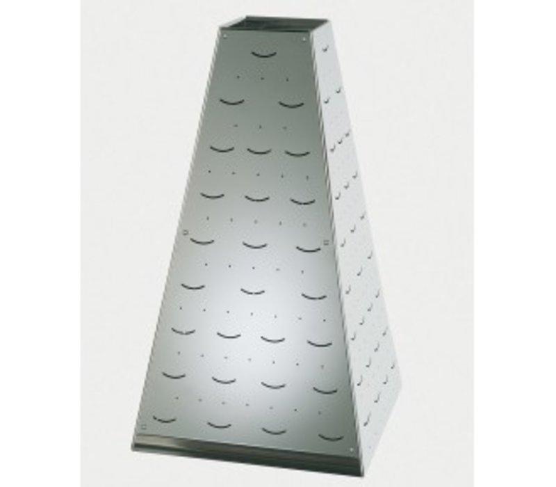 APS FSE Buffet Pyramide Small | RVS | 17x17x(H)17cm