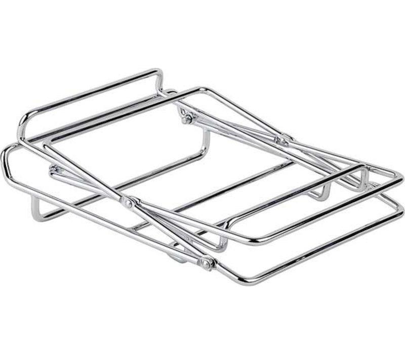 APS FSE Buffet Stand 2 Traps   Voor Mandjes   Metaal Verchroomd  46x24cm