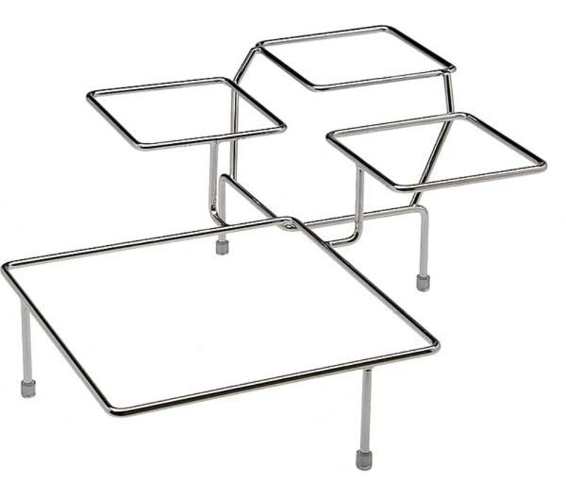 APS FSE Buffet Frame Float Big | Metaal Verchroomd | Voor 4 Schalen | 39x39x(H)17cm