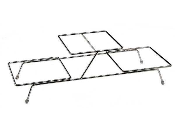 APS FSE Buffet Frame Float Small | Metaal Verchroomd | Voor 3 Schalen | 55,5x19x(H)15,5cm