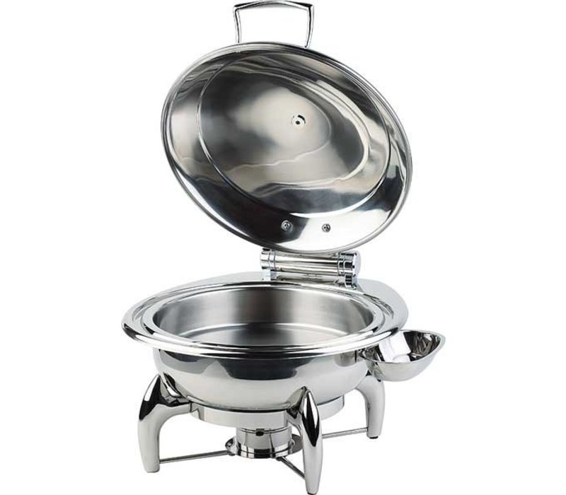APS FSE Chafing Dish Rond | RVS Deksel | Inclusief Frame