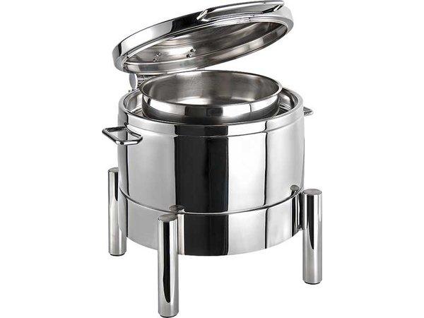 APS FSE Chafing Dish Rond | Premium | RVS | Hydraulische Scharnier | 440x480x(H)390mm