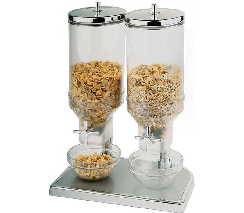 APS FSE Cereal Dispenser Fresh&Easy | RVS | 2x4,5 Liter | 220x35x(H)520mm
