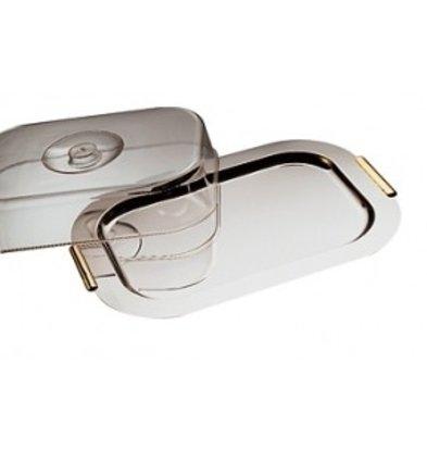 APS FSE Schaal met Deksel 'Finesse' | Roestvrij staal | 420x310mm