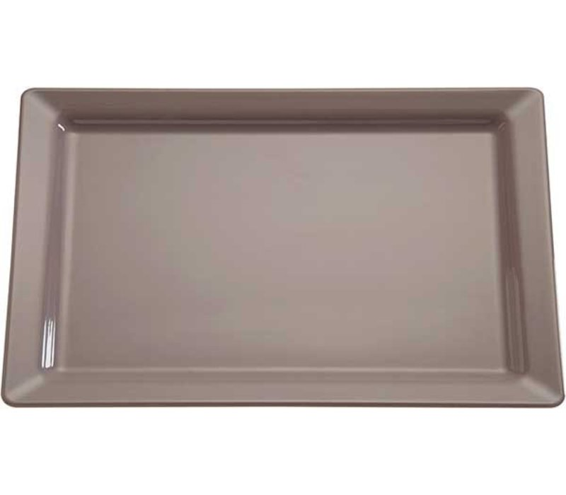 APS FSE Schaal Pure   Rechthoekig   Melamine Taupe/Grijs   GN 1/1, 530x325x(H)30mm