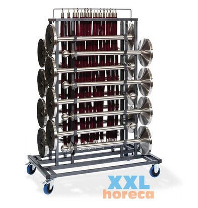 XXLselect Barriers Transport trolley Elegance | Heavy Duty | Suitable for 16 Barriers | 1290x760x1800 (h) mm