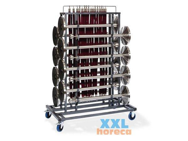 XXLselect Afzetpalen Transportkar Elegance | Heavy Duty |  Geschikt voor 16 Afzetpalen | 1290x760x1800(h)mm