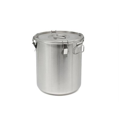 Thermosteel Thermostal Soup container | 30 liters Side handles Double-walled stainless steel AISI 304 | Stackable Ø36cm x (h) 40cm
