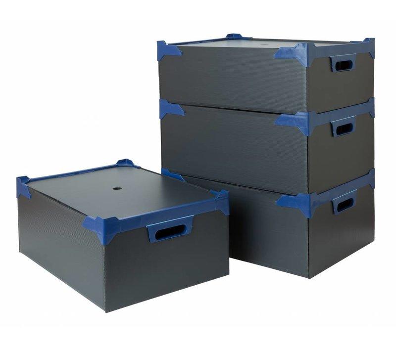 Bar Professional Box voor 24 glazen  | 500x345x200mm | 5 stuks | Zwart