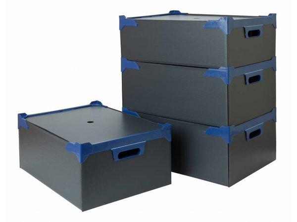 Bar Professional Box voor 35 glazen  | 500x345x200mm | 5 stuks | Zwart