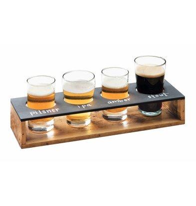 Bar Professional Proeverij Display Houder | Hout en krijtbord