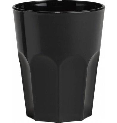 Bar Professional Rox glass 30cl Black Plastic PP - Per 15 Pieces