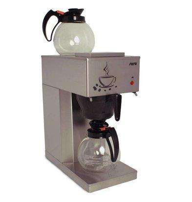 Saro Coffee Economic RVS | 2x1,8 liters / 24 cups | 205x385x (H) 435mm