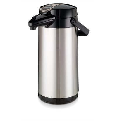 Bravilor Bonamat Airpot Furento | Glazen Binnenpot & Rvs Behuizing  | 2,2 Liter | Ø164x(H)378mm