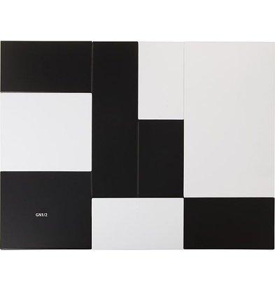 APS FSE Presentatieblad Zero | Melamine Zwart | GN 1/1 | 53x32,5x(H)1,5cm