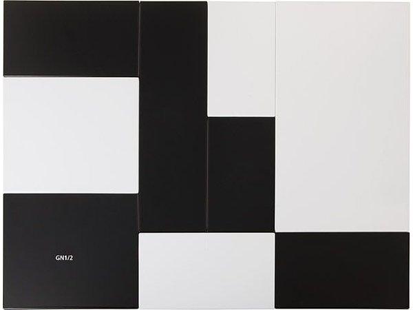 APS FSE Presentatieblad Zero   Melamine Zwart   GN 1/1   53x32,5x(H)1,5cm