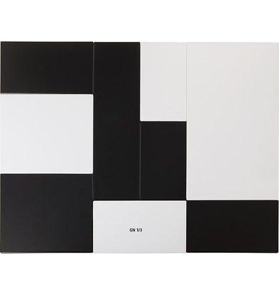 APS FSE Presentatieblad Zero | Melamine Wit | GN 1/3 | 325x176x(H)1,5cm