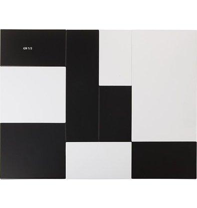 APS FSE Presentatieblad Zero | Melamine Zwart | GN 1/3 | 32,5x17,6x(H)1,5cm