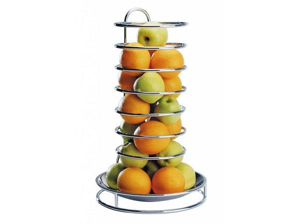 APS FSE Etagere Fruits | Roestvrij staal | Verchroomd Draadframe | ø32cm, hoogte 53cm