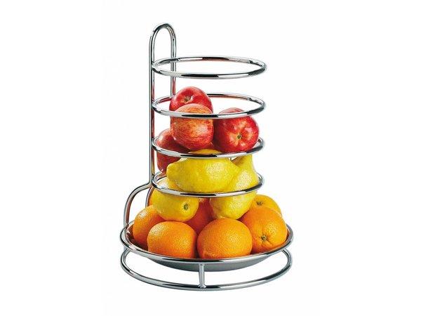 APS FSE Etagere Fruits RVS | Verchroomd Draadframe | Ø27,5cm, hoogte 32cm